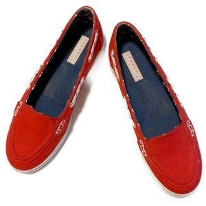 Sperry Red Slip-On Shoes • Size 8 M